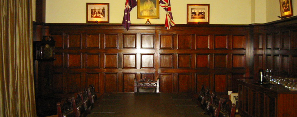 Orwell & Peter Phillips heritage conservation architecture - Board Room at NSW Masonic Club, Sydney